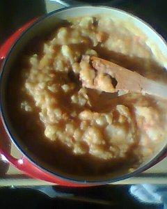 Carottes, oignons, pommes de terre et gras de canard