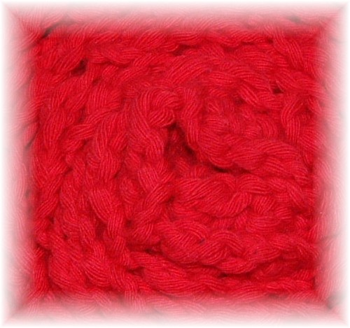 Écharpe en coton, motif de chevrons (ça rime) (1/3)
