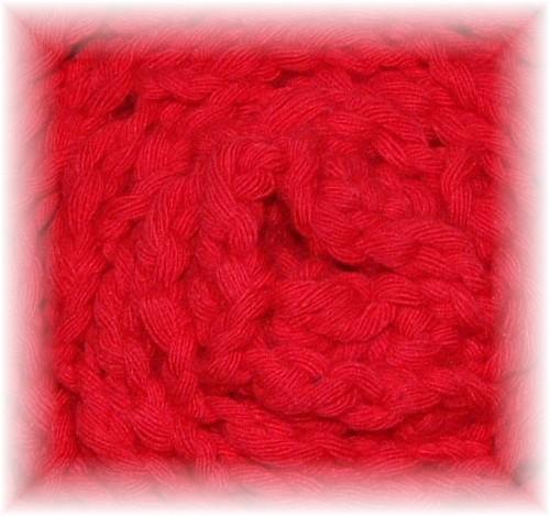 écharpe rouge chevrons - 01