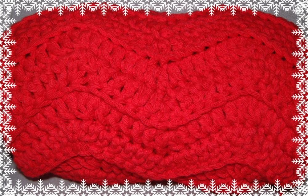 Écharpe en coton, motif de chevrons (ça rime) (2/3)