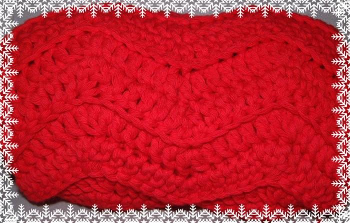 écharpe rouge chevrons - 02