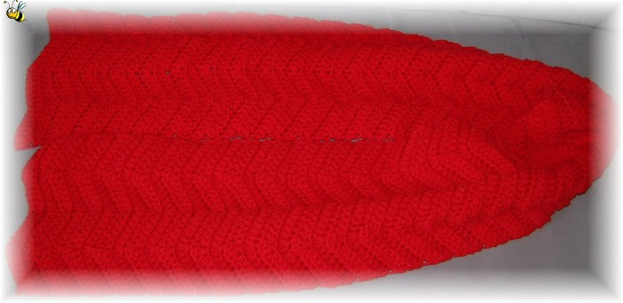 écharpe rouge chevrons - 03